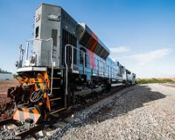 Operação ferroviária leva soja de Anápolis ao Porto Itaqui (MA)