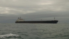 Navio Adamastos deixa o porto de Rio Grande
